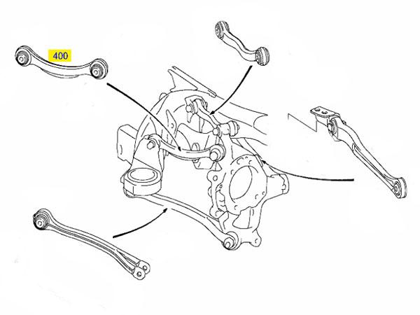 mercedes suspension diagram