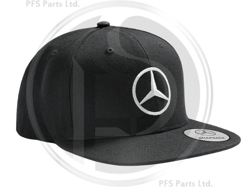 Mercedes snapback black flat brim cap for Mercedes benz snapback
