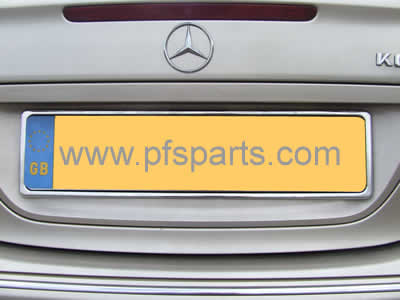 Stainless Steel Number Plate Surround & Mercedes CLK Stainless Steel Number Plate Surround