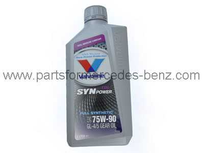 Valvoline 75w 90 fully synthetic gear diff oil for Mercedes benz synthetic oil