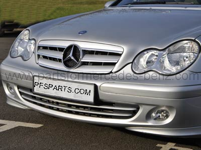 Mercedes c class 2001 2007 styling grille silver for Silver star mercedes benz parts