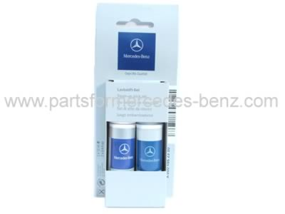mercedes palladium silver metallic touch up paint set