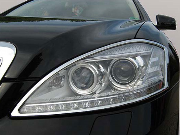 Mercedes s class w221 2006 2013 chrome head light for Mercedes benz aftermarket performance parts