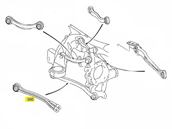 Rear Suspension Control Arm Left Hand Or Right: Mercedes 190 Rear Suspension Diagram At Downselot.com